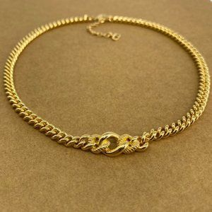 Auth Vintage Christian Dior Gold Tone Necklace